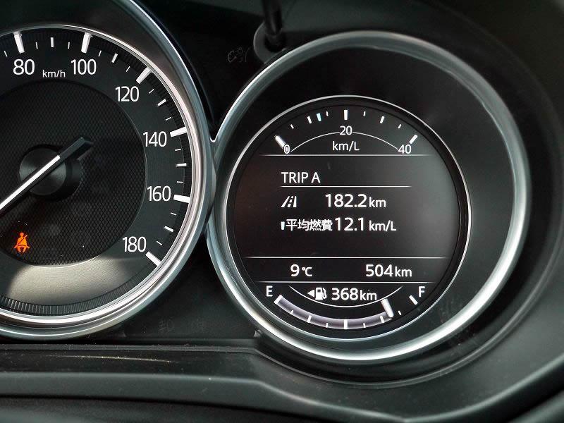 マツダ 新型CX-5 インフォメーションディスプレイ