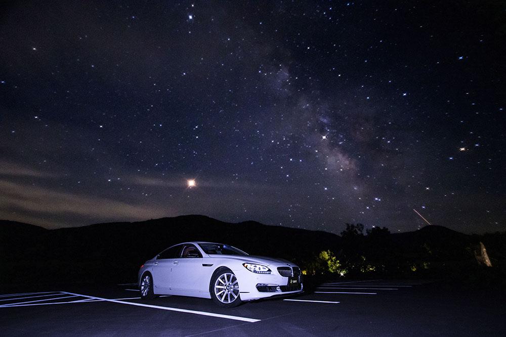 星空と愛車 BMW 640i グランクーペ
