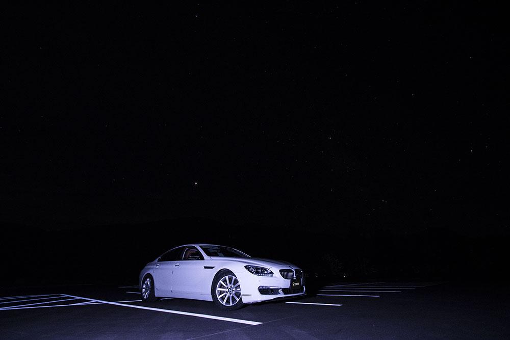 愛車と星空写真の撮影