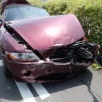 事故による車両破損(普通車)
