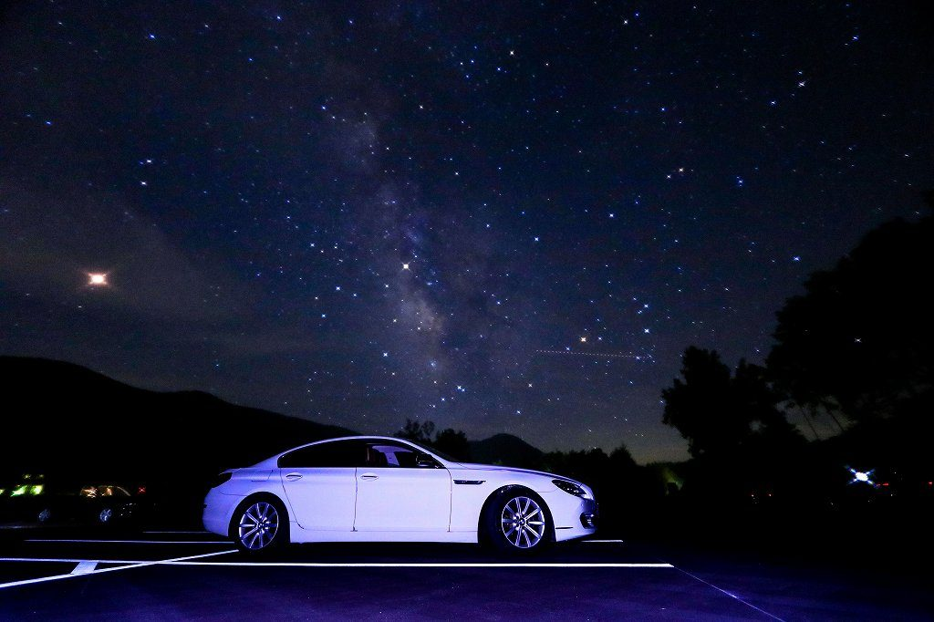 【画像4】星空と愛車の画像を合成
